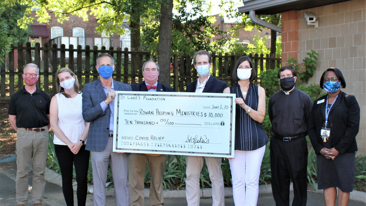 Foundation Trustees present Rowan Helping Ministries with a $10,000 gift.   (L-R): Edward...