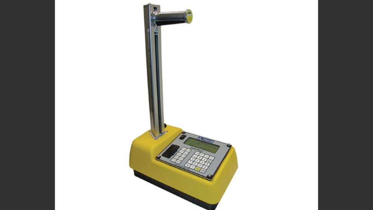 A gauge, which uses radioactive materials to test conditions of materials during construction,...