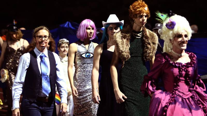 Hail, Mary! High school's halftime show is a drag pageant