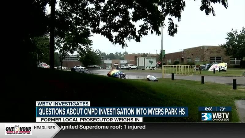 Questions about CMPD investigation into Myers Park HS