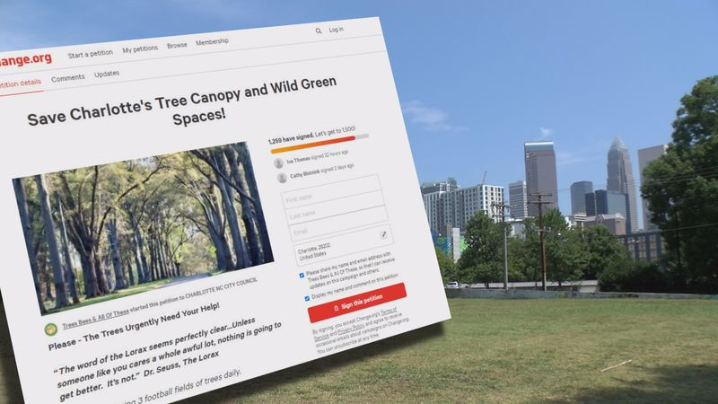 A petition is calling for city leaders to save Charlotte's greenery scenes.