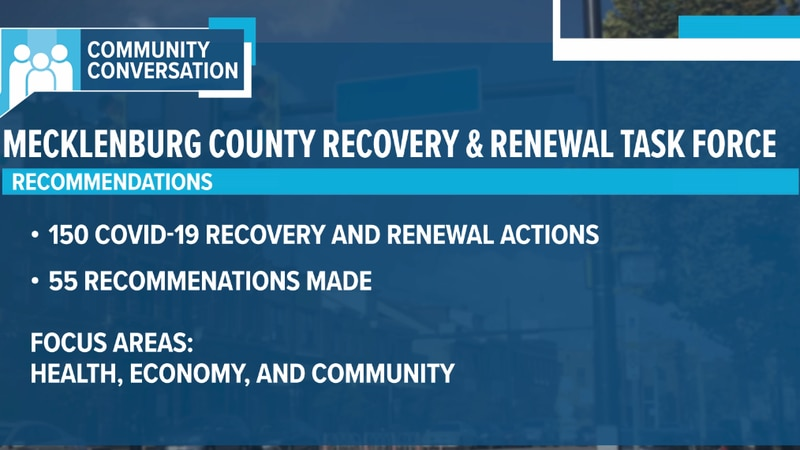 Mecklenburg County Commissioners approved all 55 recommendations of the Recovery and Renewal...