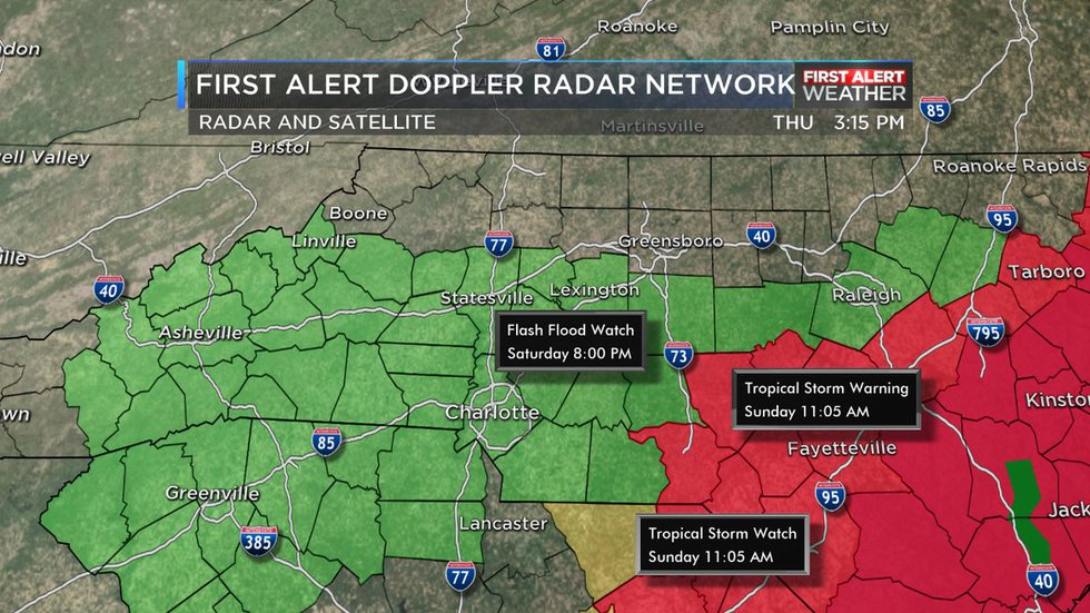 A Flash Flood Watch has now been issued in advance of Florence rain this weekend.   It will go...
