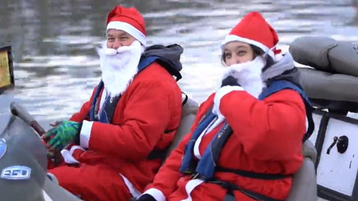 Nearly 300 Santas fish for bass on Lake Norman, donate to Toys for Tots