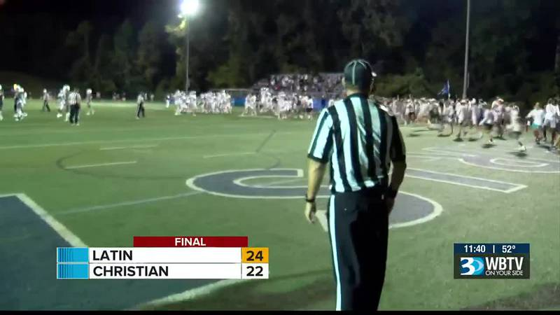 Big win for Charlotte Latin as they beat Charlotte Christian 24-22 on a game winning field goal...