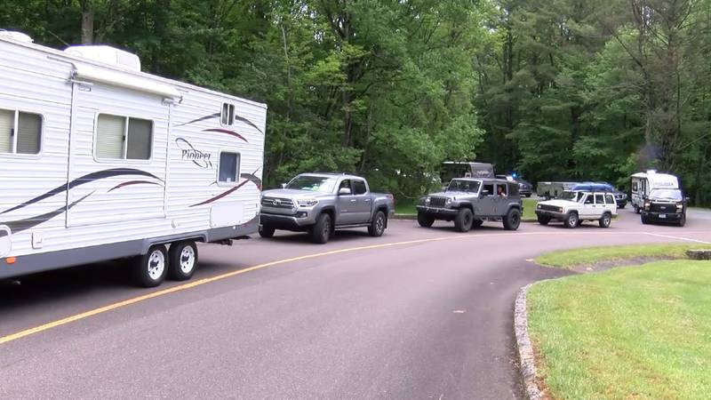 At Julian Price Campground on Friday, so many people showed up the line of vehicles spilled...