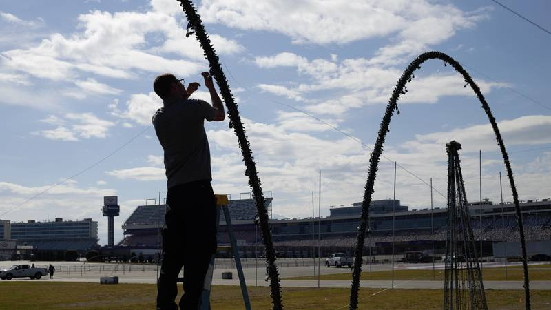 Charlotte Motor Speedway's operations crews will put in an estimated 5,000 work hours in the...