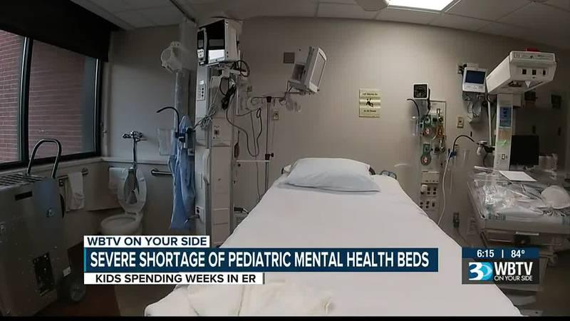 Severe shortage of pediatric mental health beds