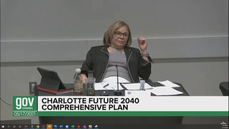 Charlotte Mayor Vi Lyles shows how exasperated she is after trying to keep Monday night's...
