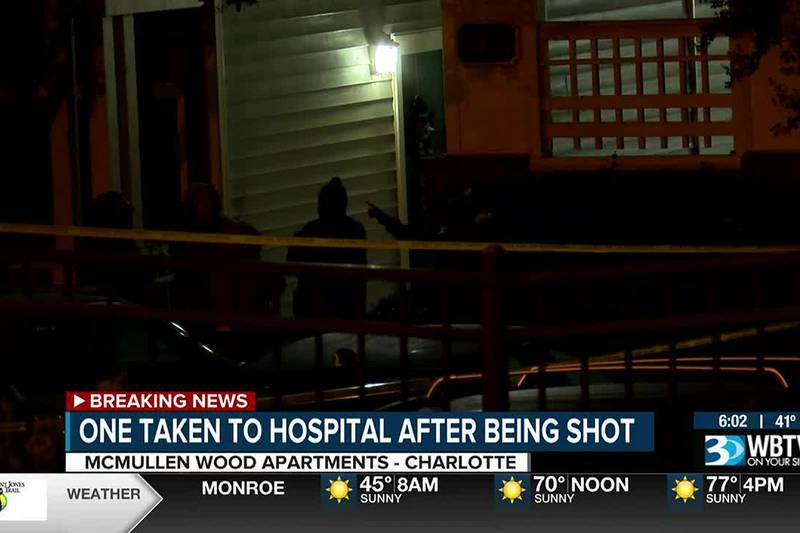 One injured in shooting at south Charlotte apartment complex off Walsh Blvd.