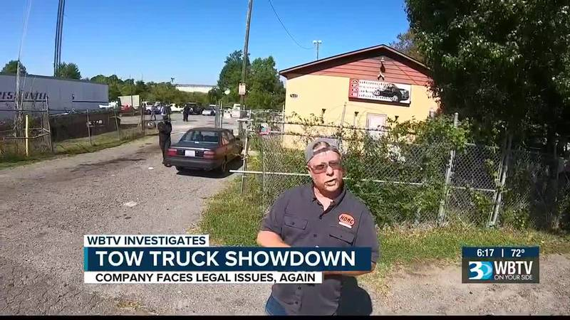 Charlotte tow truck driver defends business as lawmakers consider action after multiple WBTV...