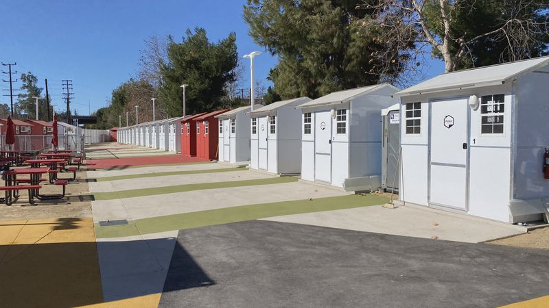 A California nonprofit recently opened a community full of tiny homes designed to temporarily...