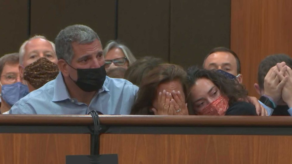 Samantha Josephson's family held each other and cried when the jury found Nathaniel Rowland...