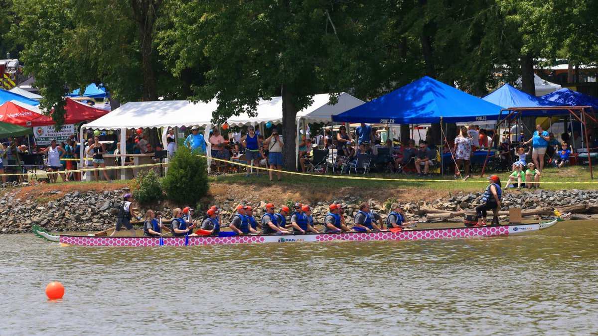 The Rowan Chamber Dragon Boat Festival is the largest annual event held on High Rock Lake.