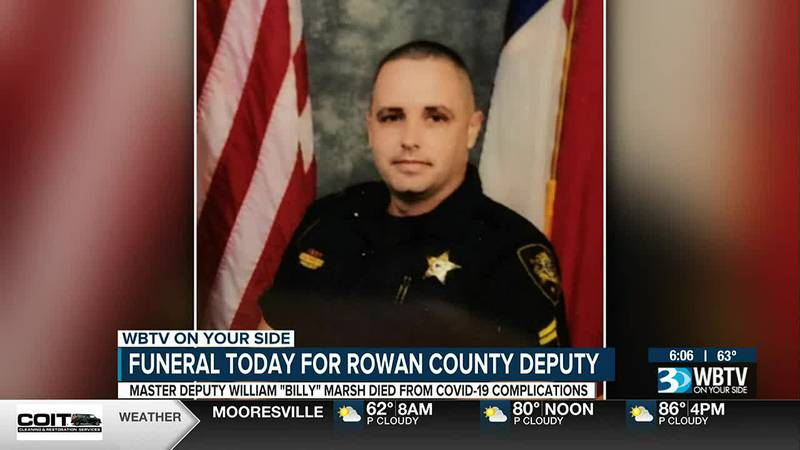 Funeral happening Thursday for Rowan deputy who passed away from COVID complications