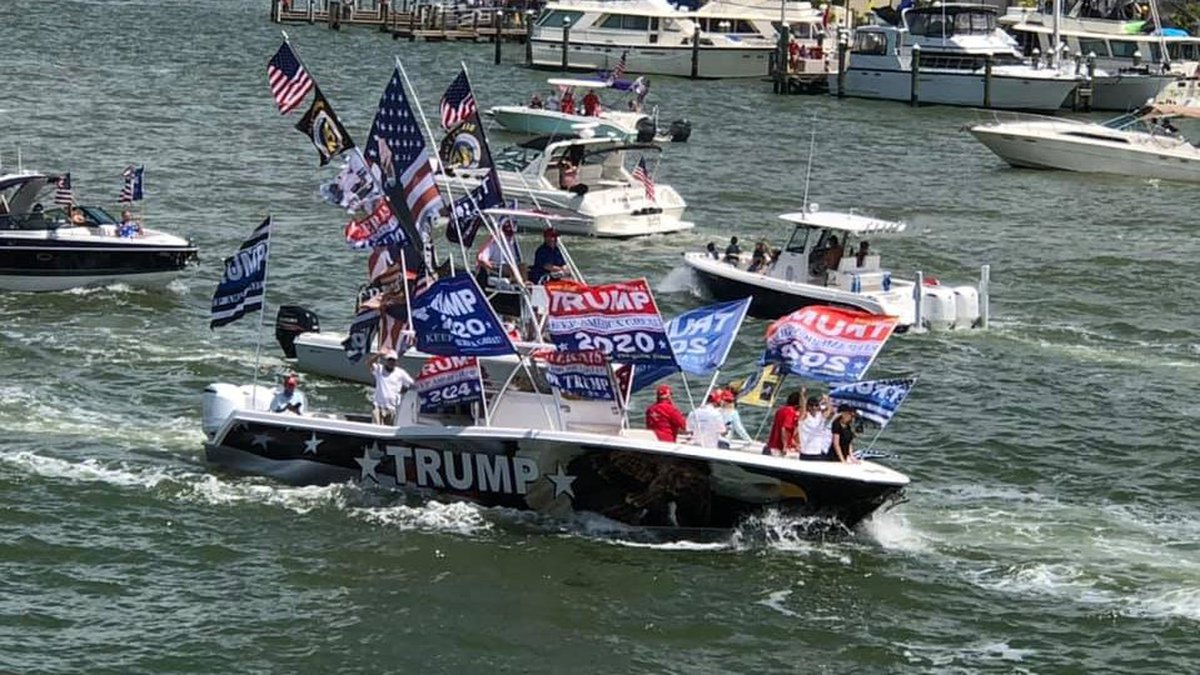 Thousands of boaters took to the ocean water of Clearwater, Florida on Saturday to break the...
