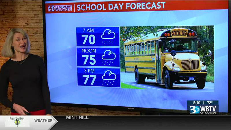 Bus Stop Forecast: A cool, rainy start to the morning