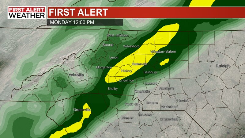 A First Alert has been issued for Monday