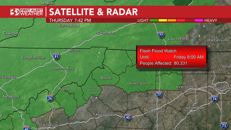 Heavy showers and storms have been menacing the mountains most of the day and flooding concerns...