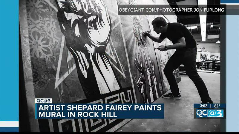 Well-known artist creating massive mural in downtown Rock Hill