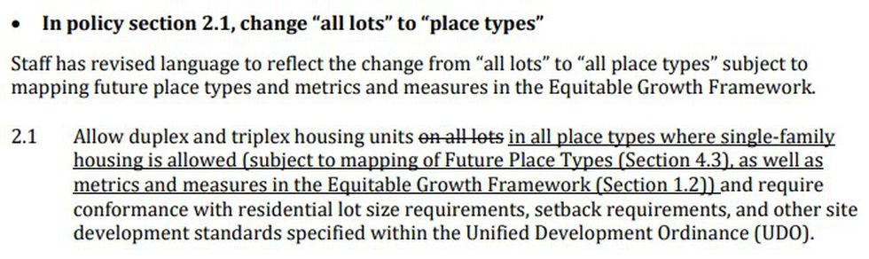 The 2.1 policy was upheld and will be part of the 2040 plan if passed in June by city council