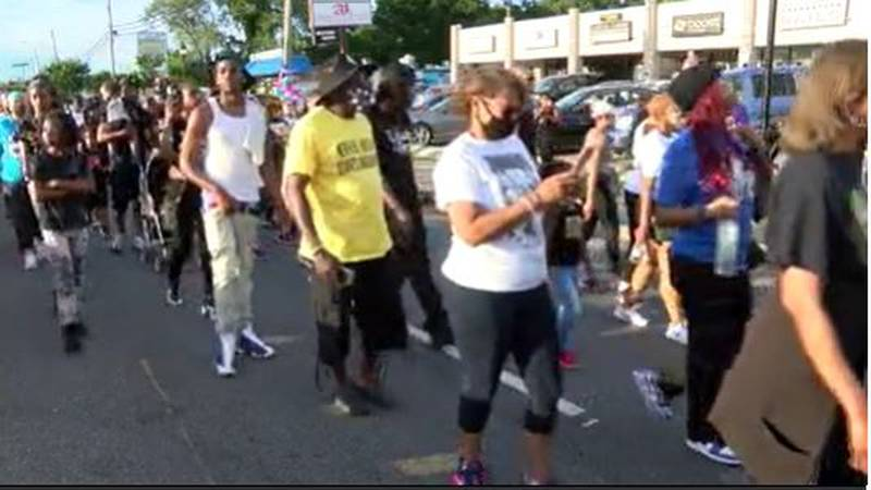 Silent march held one year after Beatties Ford Road mass shooting