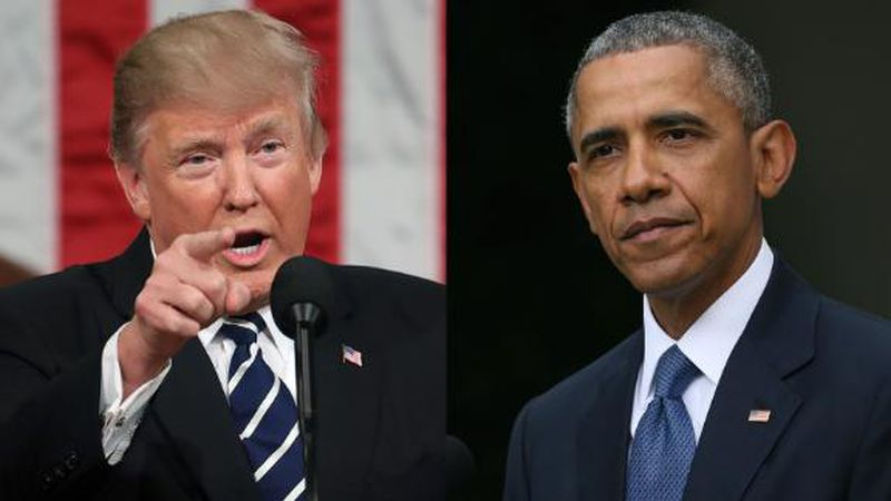 President Donald Trump and former President Barack Obama and their first ladies are the most...
