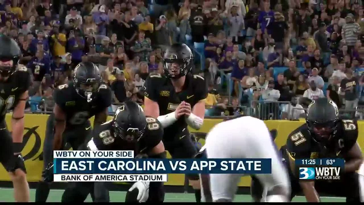 App State made the most of their first ever game in Bank of America Stadium as they beat East...