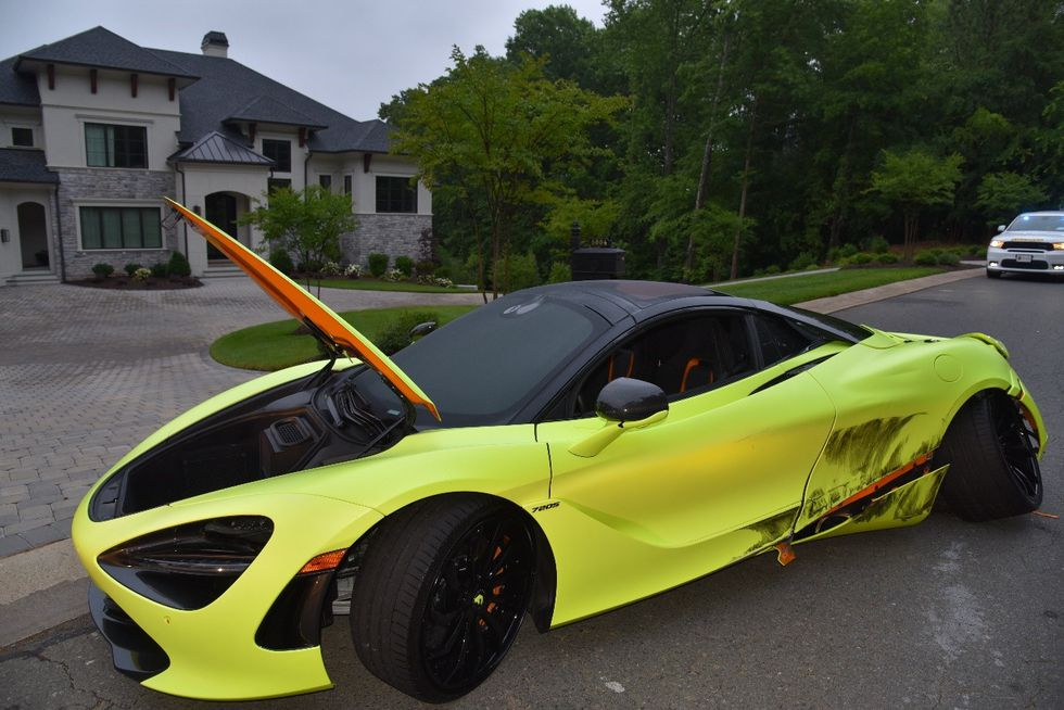When they arrived, deputies discovered a McLaren 720S vehicle crashed in front of a home....