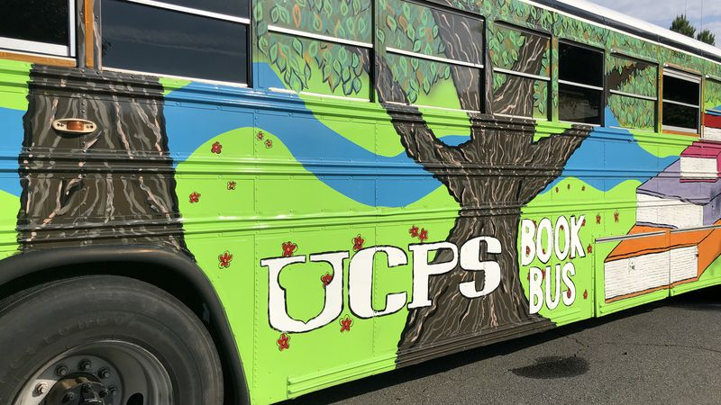The mobile book bus will make over 100 stops in the next six weeks serving thousands of students.