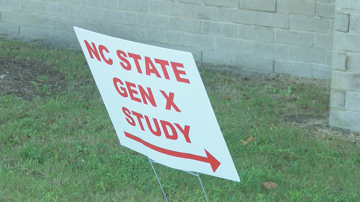NC State Gen X study at the New Hanover County Health Department.