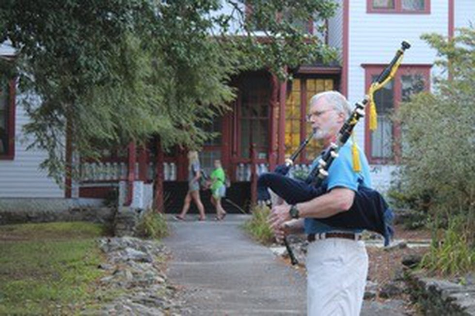 Dr. Robert Lesslie was known to volunteer at and play his bagpipes at Camp Joy.