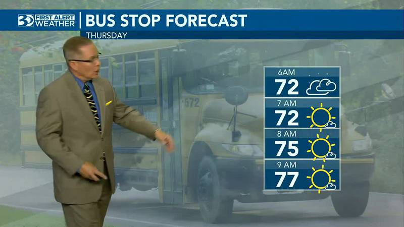 Bus Stop Forecast starts with the low 70s