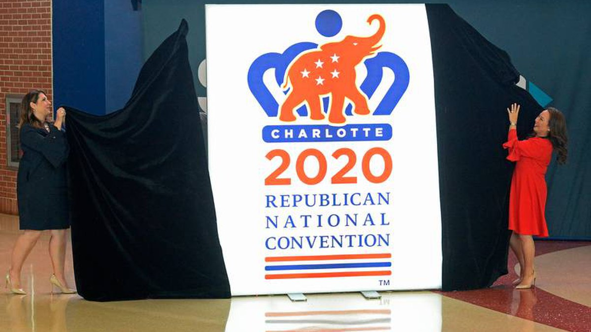 Republican National Committee chairwoman Ronna Romney McDaniel, left, and 2020 Republican...