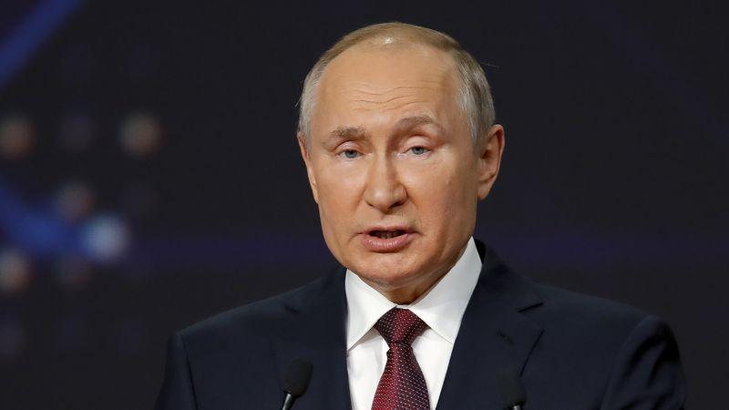 FILE - Russian President Vladimir Putin speaks at the St. Petersburg International Economic...