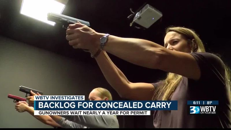 Backlog for concealed carry permits in Charlotte