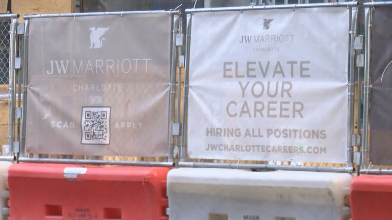 David Malmberg, general manager of the new JW Marriott Charlotte hotel being built in uptown,...