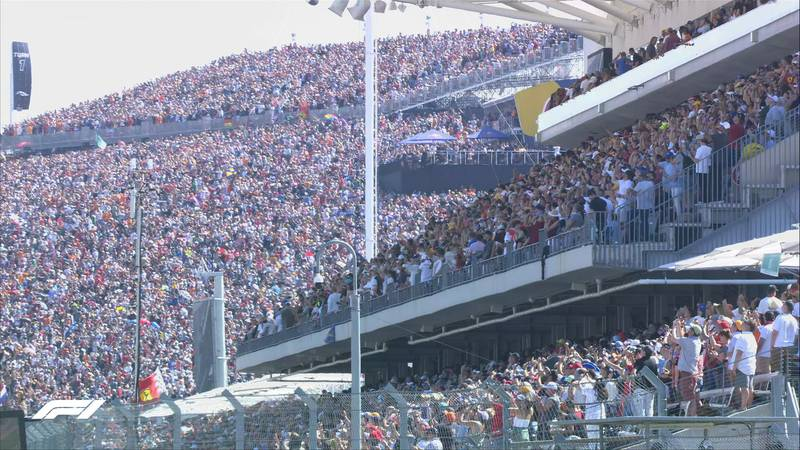 F1 officials estimated 140,000 fans in the stands for Sunday's race, 400,000 for the three-day...