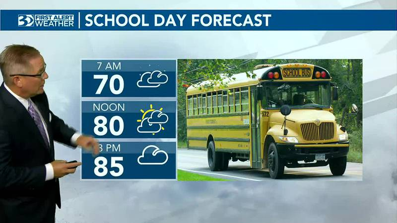 Bus Stop Forecast mostly cloudy skies for the start of Monday