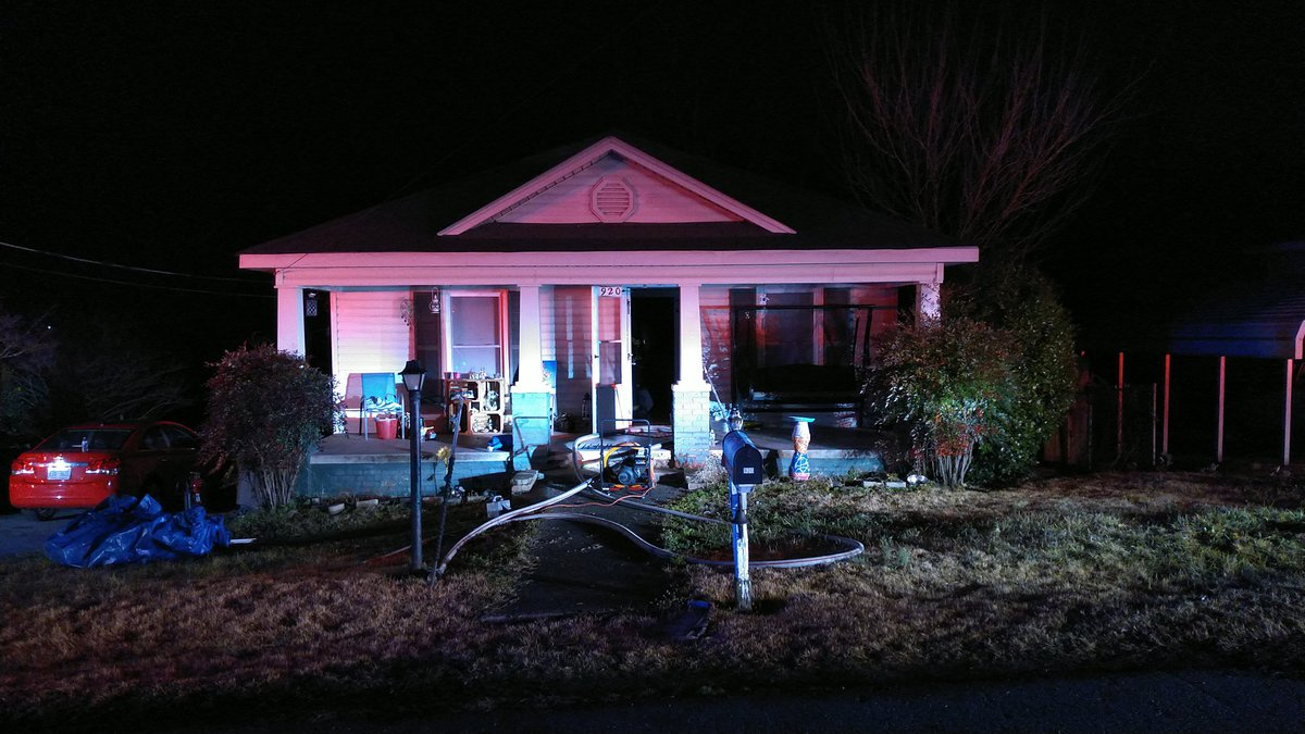 The fire was reported at a home on Oval Street in Kannapolis.