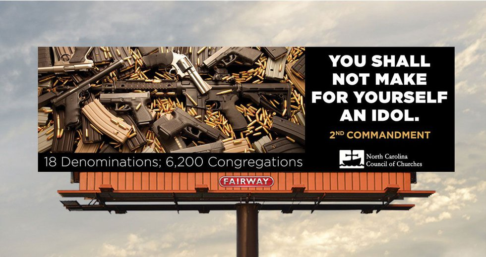 The billboard was put up Monday and will stay up for four weeks. (Courtesy: North Carolina...