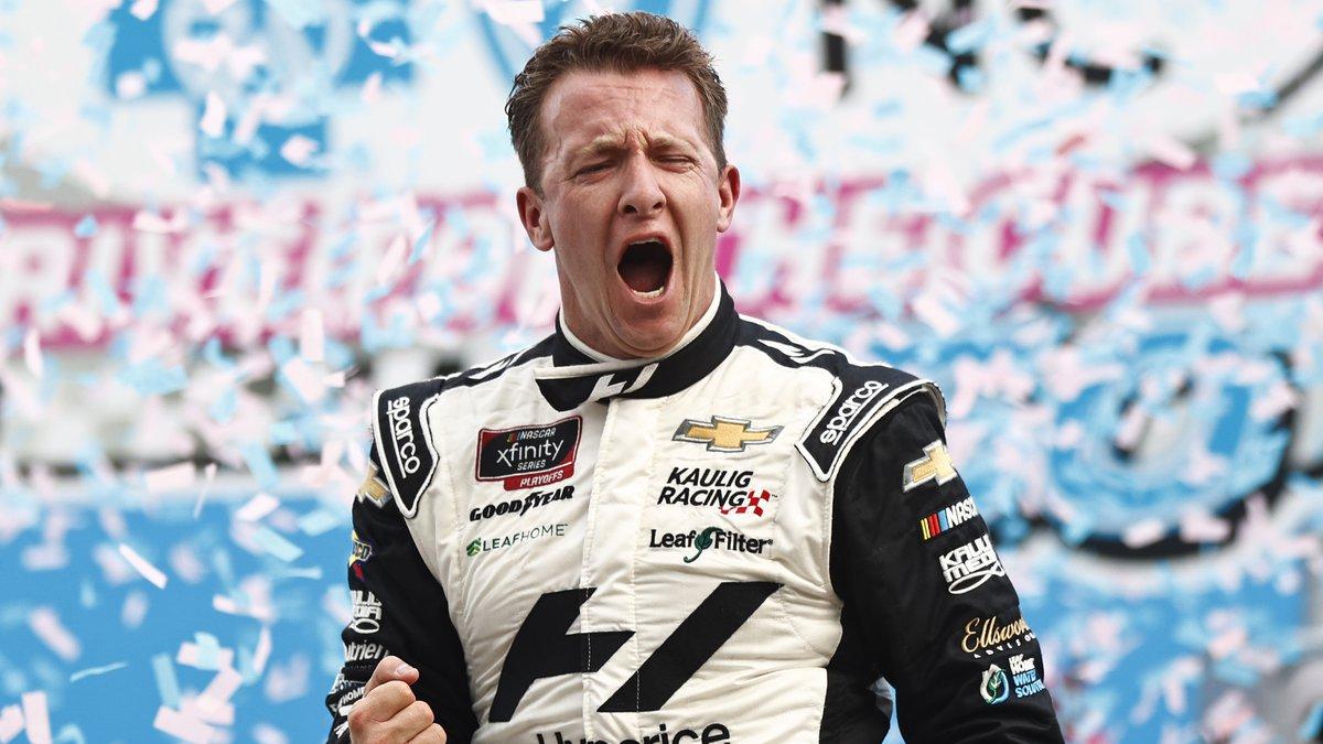 CONCORD, NORTH CAROLINA - OCTOBER 09: AJ Allmendinger, driver of the #16 Hyperice Chevrolet,...