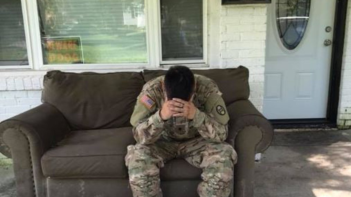 National Guardsman Luis Ocampo was working in New Bern for 10 days, assisting with Hurricane...
