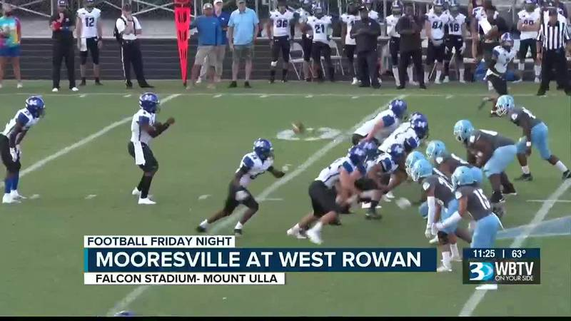 Mooresville picks up a big comeback win over West Rowan 21-13.