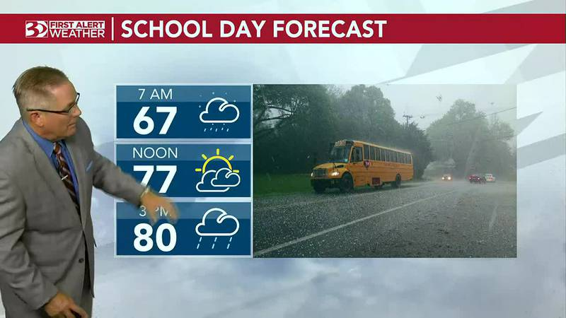 Bus Stop Forecast will see some morning rain