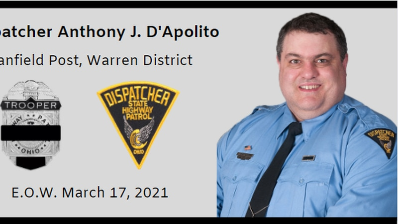 Anthony J. D'Apolito, a dispatch for the Ohio State Highway Patrol, died while on duty after a...