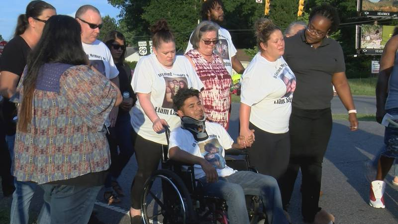 Dozens of people gathered along U.S. 74 in Gaston County Wednesday night to honor the life of a...
