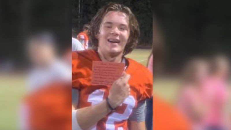 According to East Rowan High School's football team, former player Caleb Jarvis lost his life...
