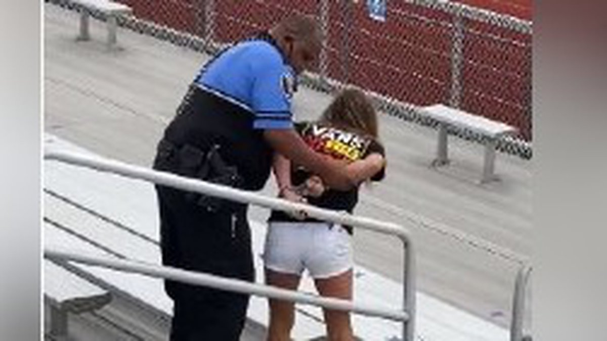 Woman apparently tased for not wearing mask at football game in Logan, Ohio