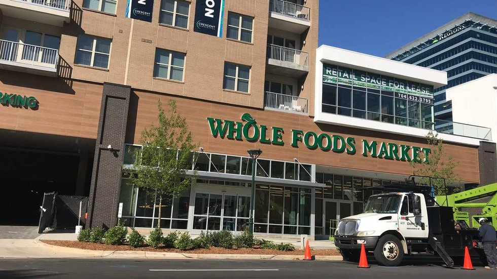 The Whole Foods store at 400 E. Stonewall St. opens next month. (Katherine Peralta | Charlotte...